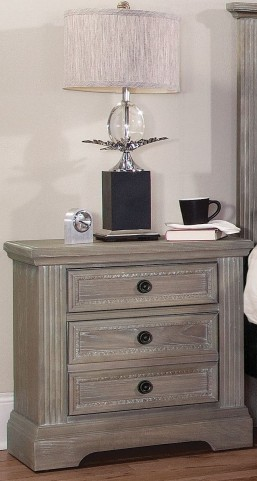 Affinity Reclaimed Gray 2 Drawer Nightstand