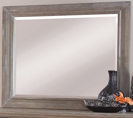 Affinity Reclaimed Gray Landscape Mirror