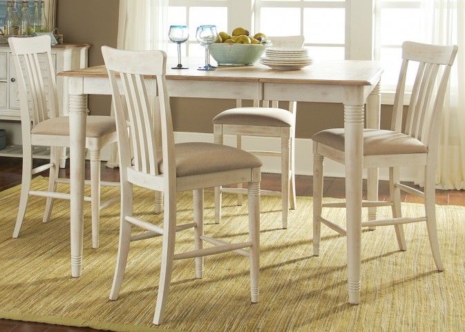 Bluff Cove II Extendable Gathering Dining Room Set