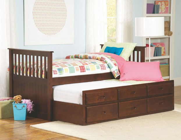Zachary Twin Trundle Storage Bed