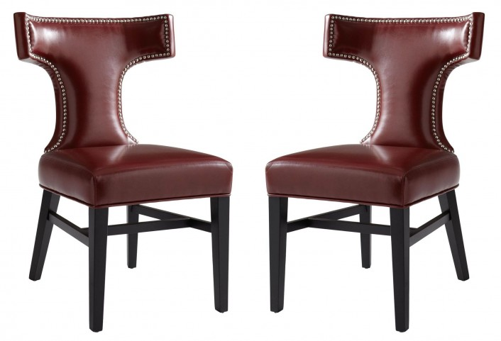Serafina Oxblood Dining Chair Set of 2
