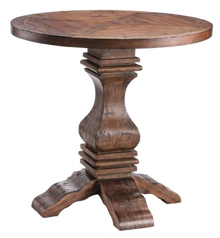 Round Pedestal Table Reclaimed Light