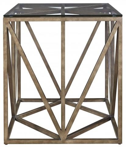 Authenticity Khaki Truss Square End Table