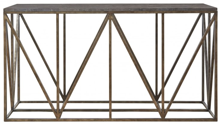Authenticity Khaki Truss Console Table