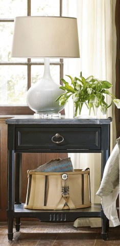 Authenticity Black Bedside Table