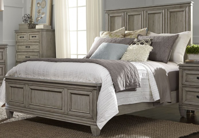 Grayton Grove Driftwood King Panel Bed