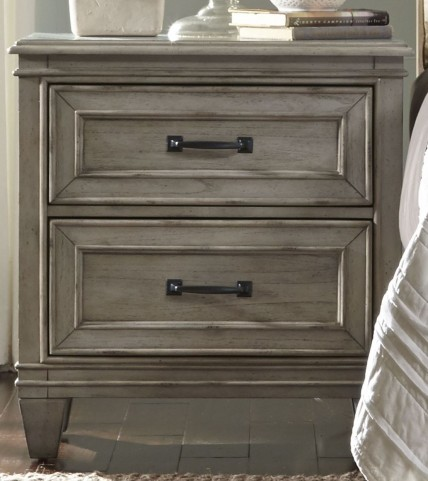Grayton Grove Driftwood 2 Drawer Nightstand