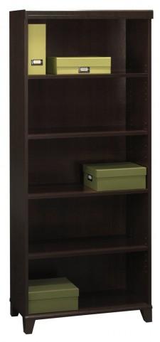 Tuxedo Mocha  Cherry 5-shelf Bookcase