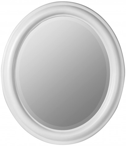Addison White Oval Mirror