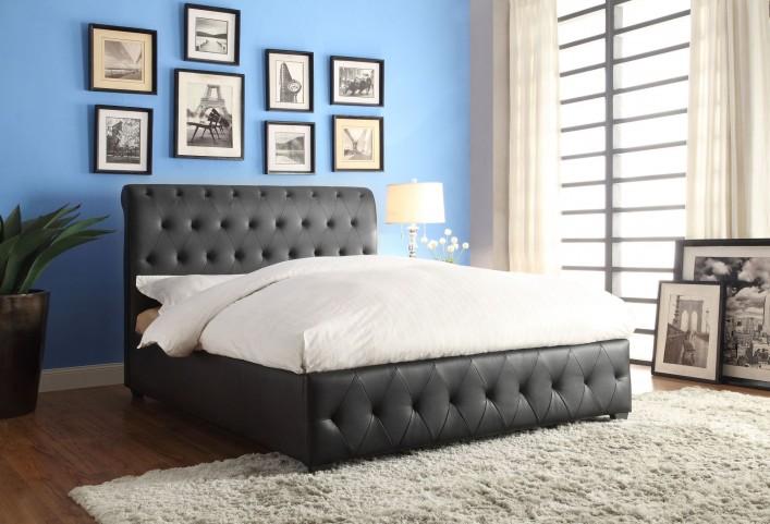 Baldwyn Vinyl Full Platform Bed