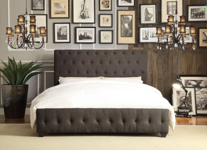 Baldwyn Fabric Cal. King Platform Bed