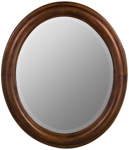 Addison Brown Oval Mirror