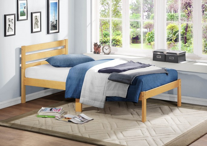 Bart Light Oak Twin Platform Bed
