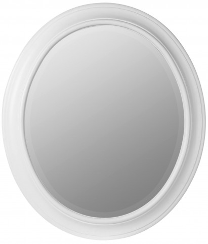 Chelsea White Oval Mirror