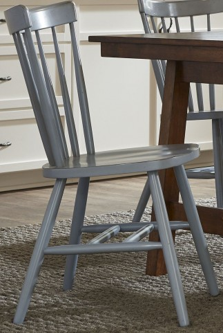 Creations II Blue Spindle Back Side Chair Set of 2