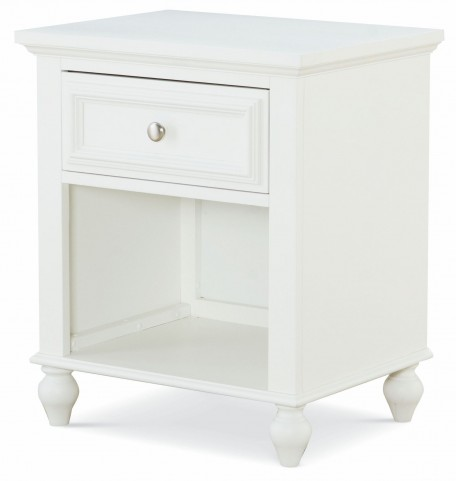 Academy White 1 Drawer Nightstand