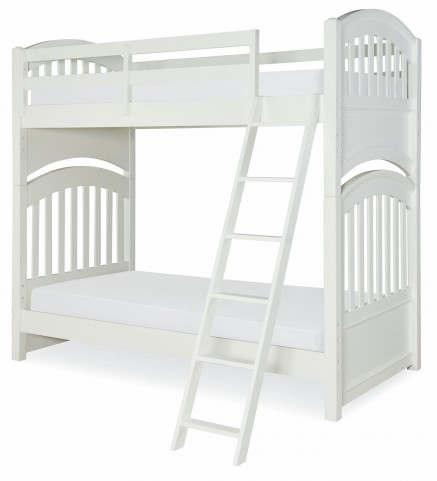 Academy White Twin over Twin Bunk Bed