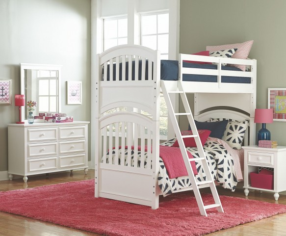 Academy White Bunk Bedroom Set