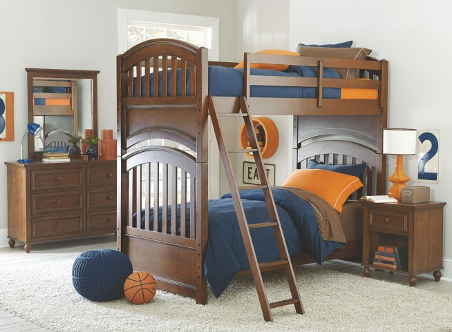 Academy Cinnamon Bunk Bedroom Set