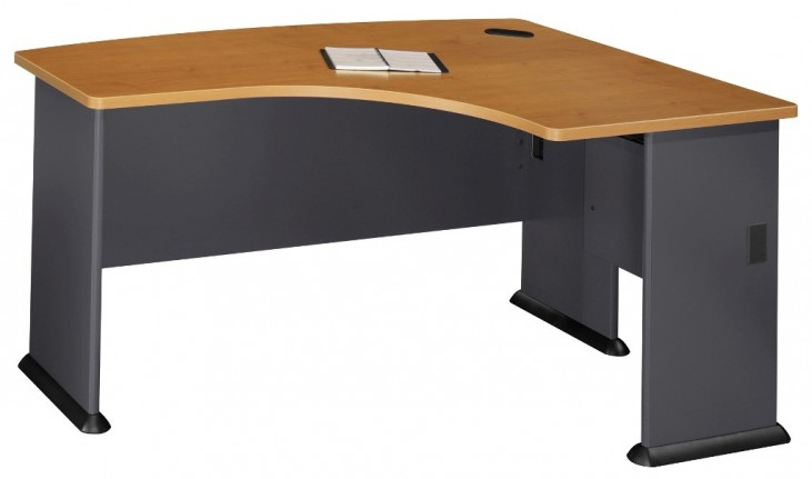 Series A Natural Cherry 60 Inch LH L-Bow Desk