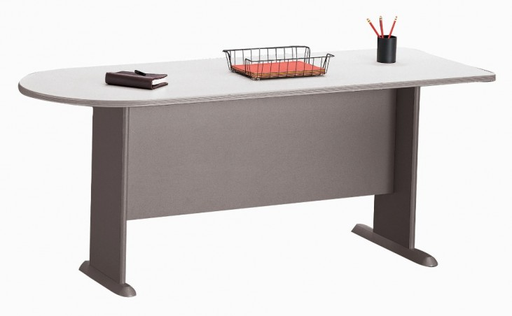 Series A Pewter 72 Inch Universal Freestanding Peninsula
