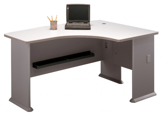 Series A Pewter 60 Inch RH L-Bow Desk