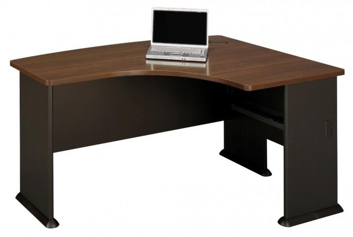 Series A Sienna Walnut 60 Inch RH L-Bow Desk