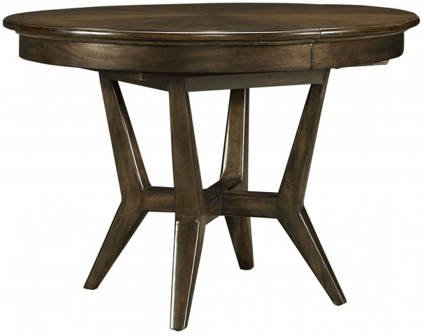 Santa Clara Burnished Walnut Extendable Round Dining Table