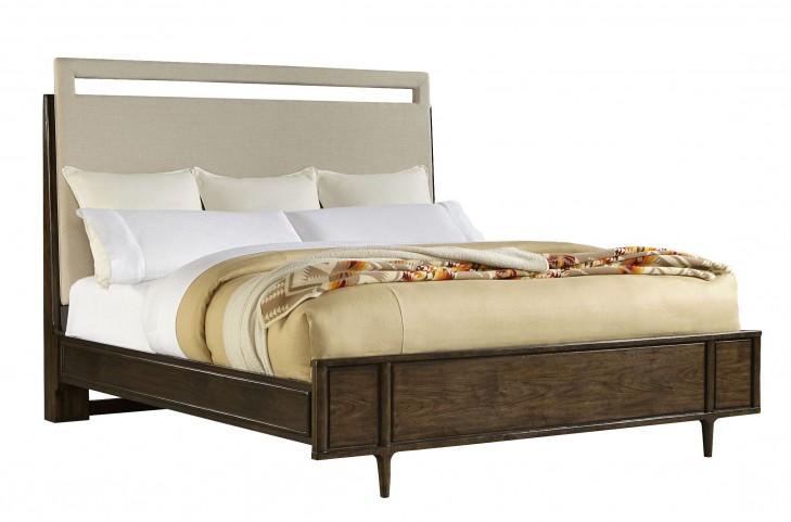 Santa Clara Burnished Walnut King Upholstered Bed