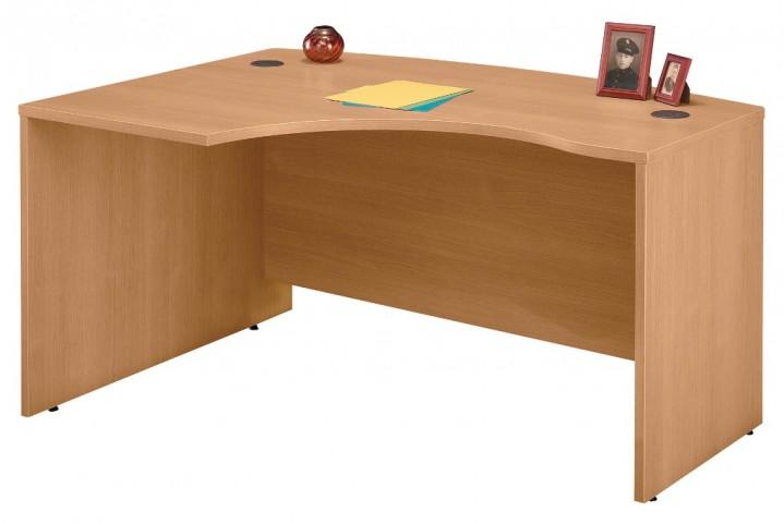 WC60333 Series C Light Oak 60 Inch LH L-Bow Desk Shell