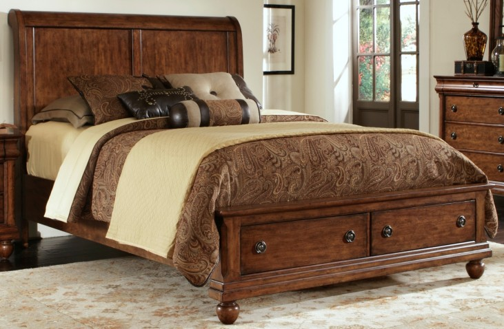Rustic Traditions King Sleigh Storage Bed