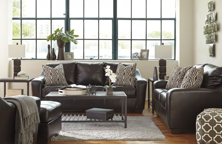 Coppell DuraBlend Chocolate Living Room Set