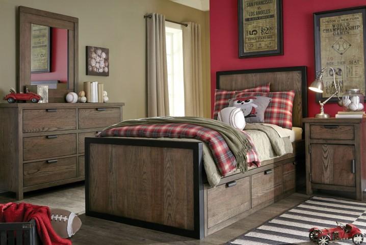 Fulton County Tawny Brown Panel Bedroom Set