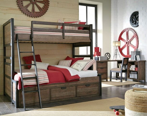 Fulton County Tawny Brown Bunk Bedroom Set
