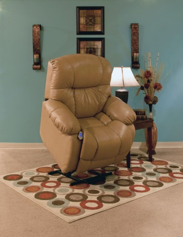 5900 Series Wall-a-Way Reclining Lift Chair Buffalino Straw Finish