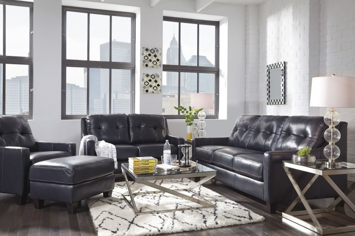 O'Kean Navy Living Room Set