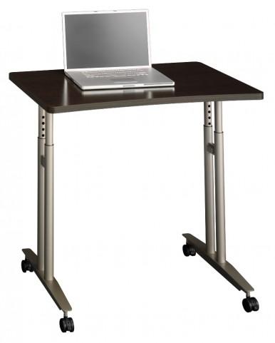 Series C Mocha Cherry Adjustable Height Mobile Table