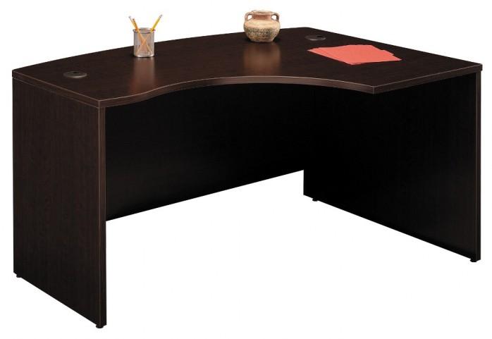 WC12922 Series C Mocha Cherry 60 Inch LH L-Bow Desk Shell