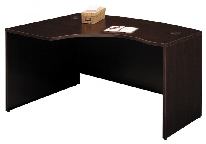 WC12933 Series C Mocha Cherry 60 Inch LH L-Bow Desk Shell