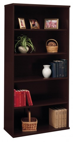 Series C Mocha Cherry 36 Inch 5-Shelf Bookcase