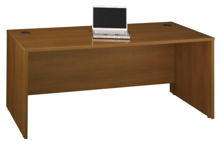 Series C Warm Oak 72 Inch Desk Shell