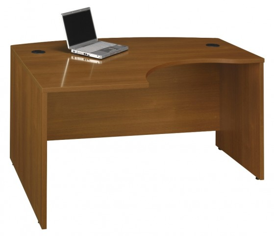 WC67533 Series C Warm Oak 60 Inch LH L-Bow Desk Shell