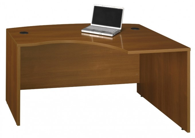 WC67522 Series C Warm Oak 60 Inch LH L-Bow Desk Shell