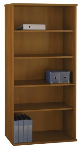 Series C Warm Oak 36 Inch 5-Shelf Bookcase