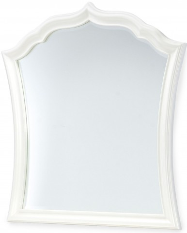 Tiffany Pearlized White Vertical Mirror