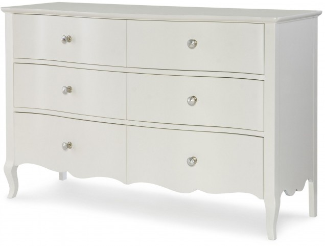 Tiffany Pearlized White Dresser