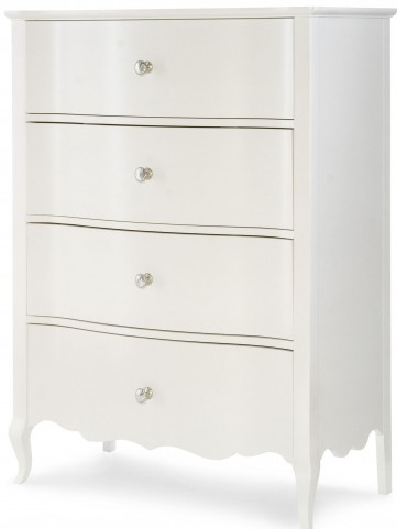 Tiffany Pearlized White Drawer Chest