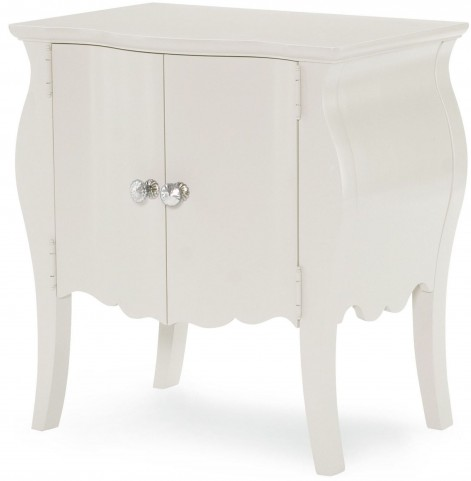 Tiffany Pearlized White Door Nightstand