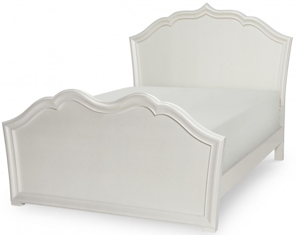 Tiffany Pearlized White Full Panel Bed