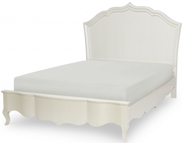 Tiffany Pearlized White Full Platform Bed